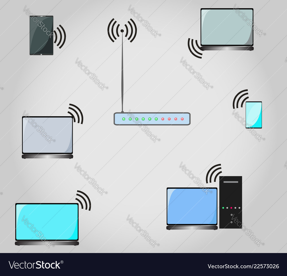 Conceptual image of the wi fi network