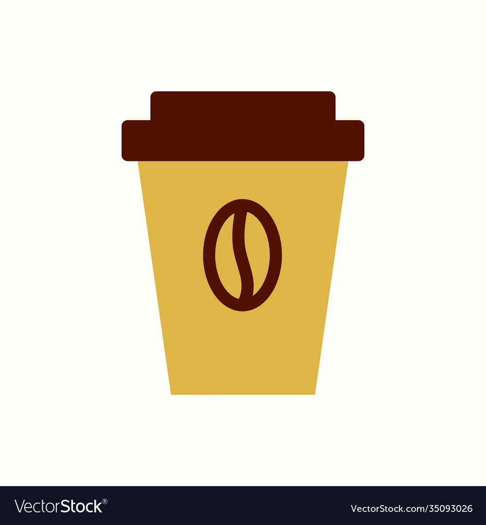 Cup coffee icon flat style