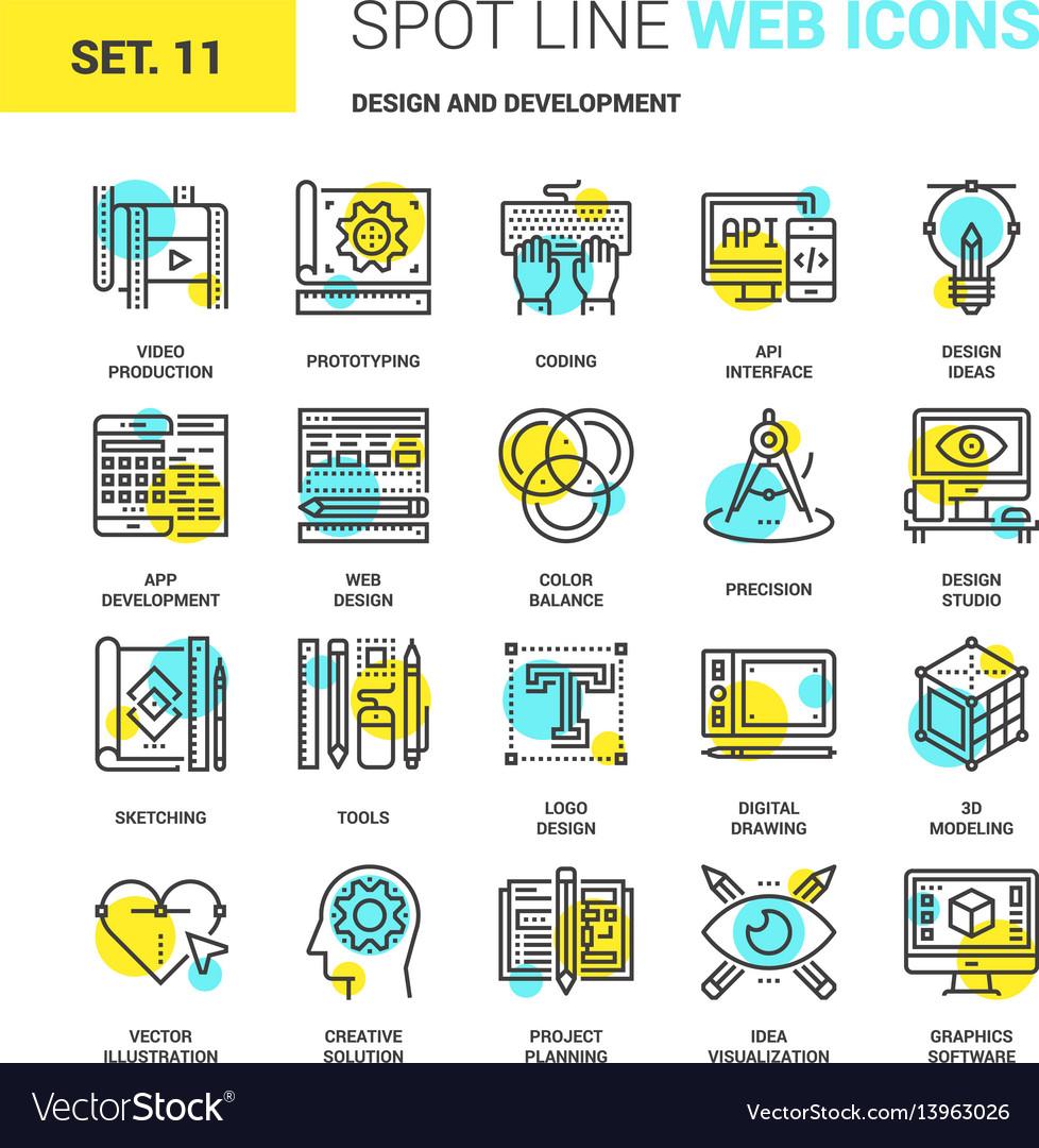 Deisgn and development vector image