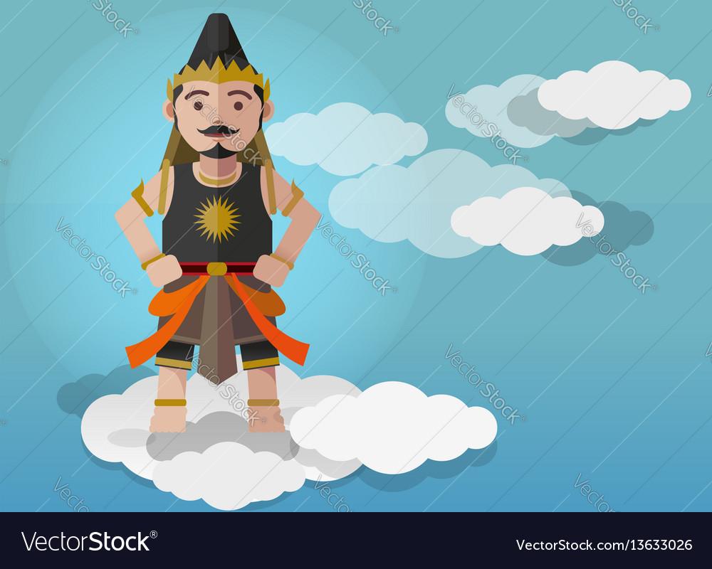 Gatutkaca puppet characters vector image