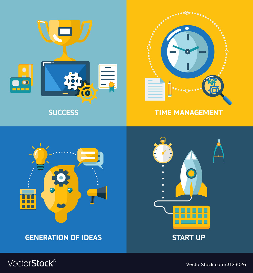 Generation of ideas start up time management