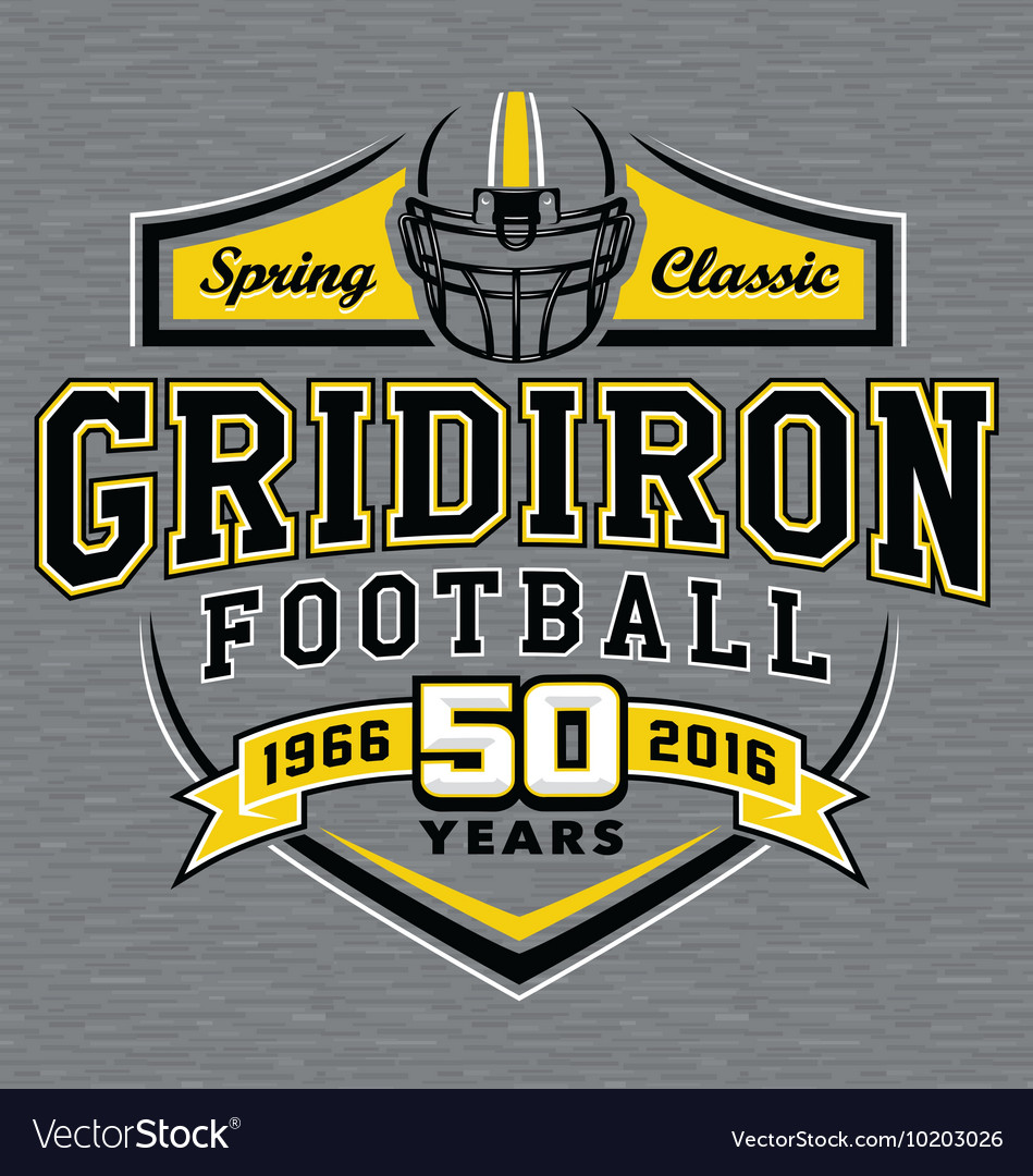 Gridiron football t-shirt graphic design