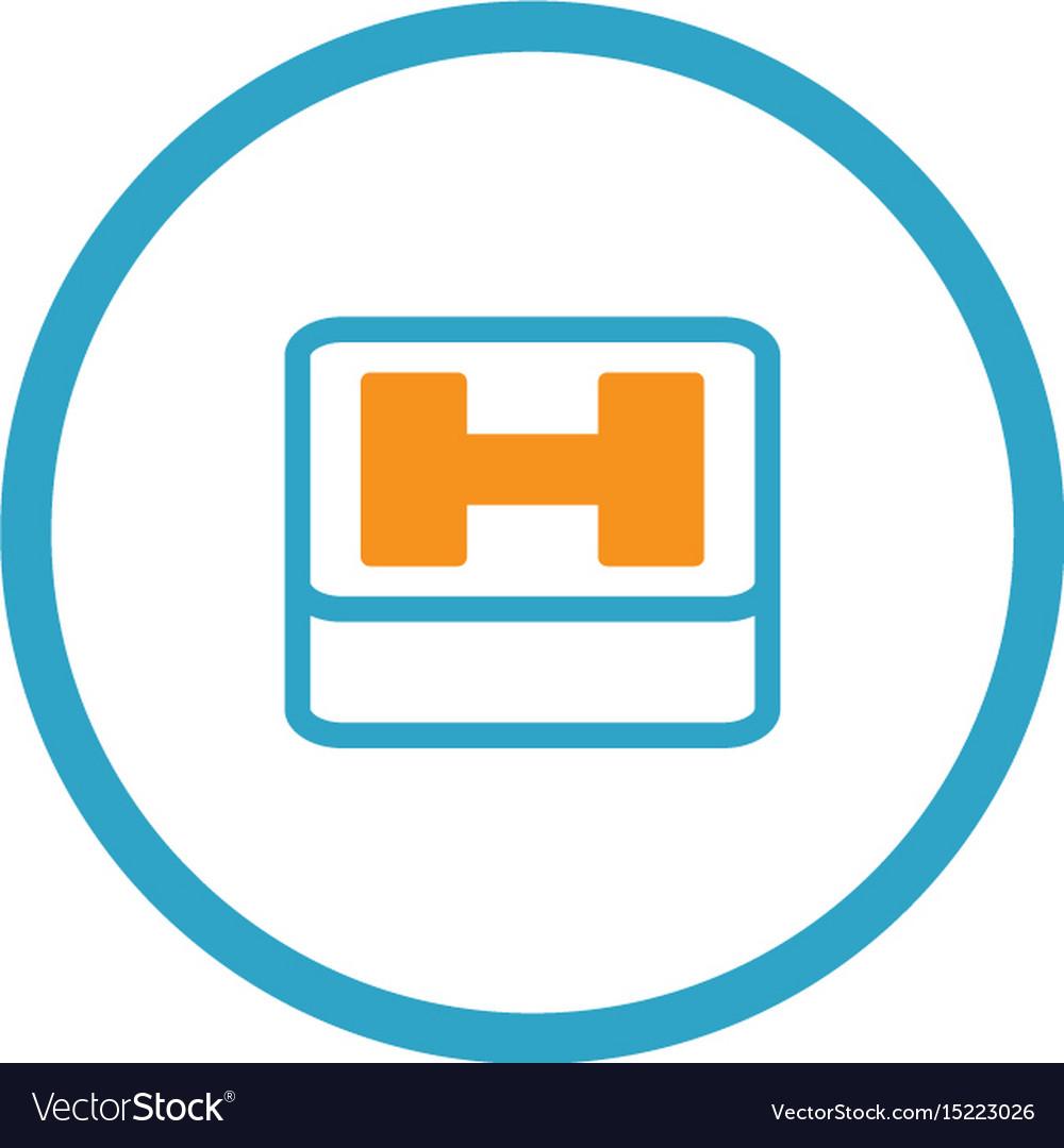 Hospital Symbol Flat Design Royalty Free Vector Image