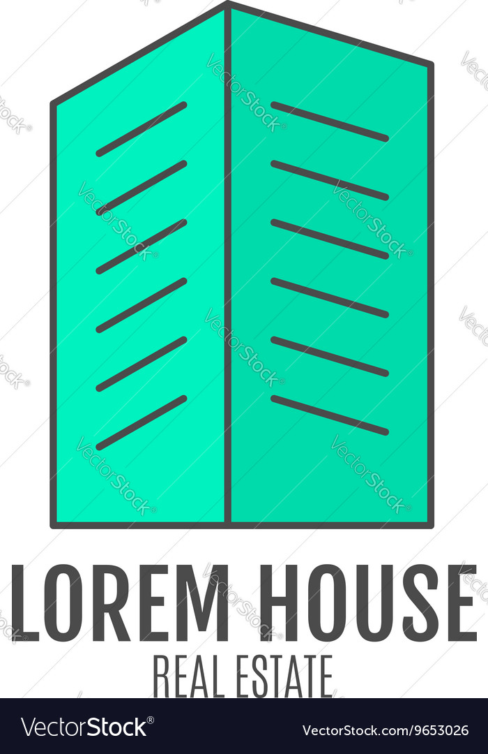House logo design real estate icon