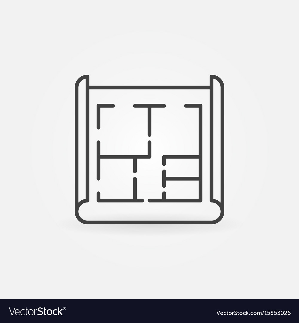 House plan icon vector image