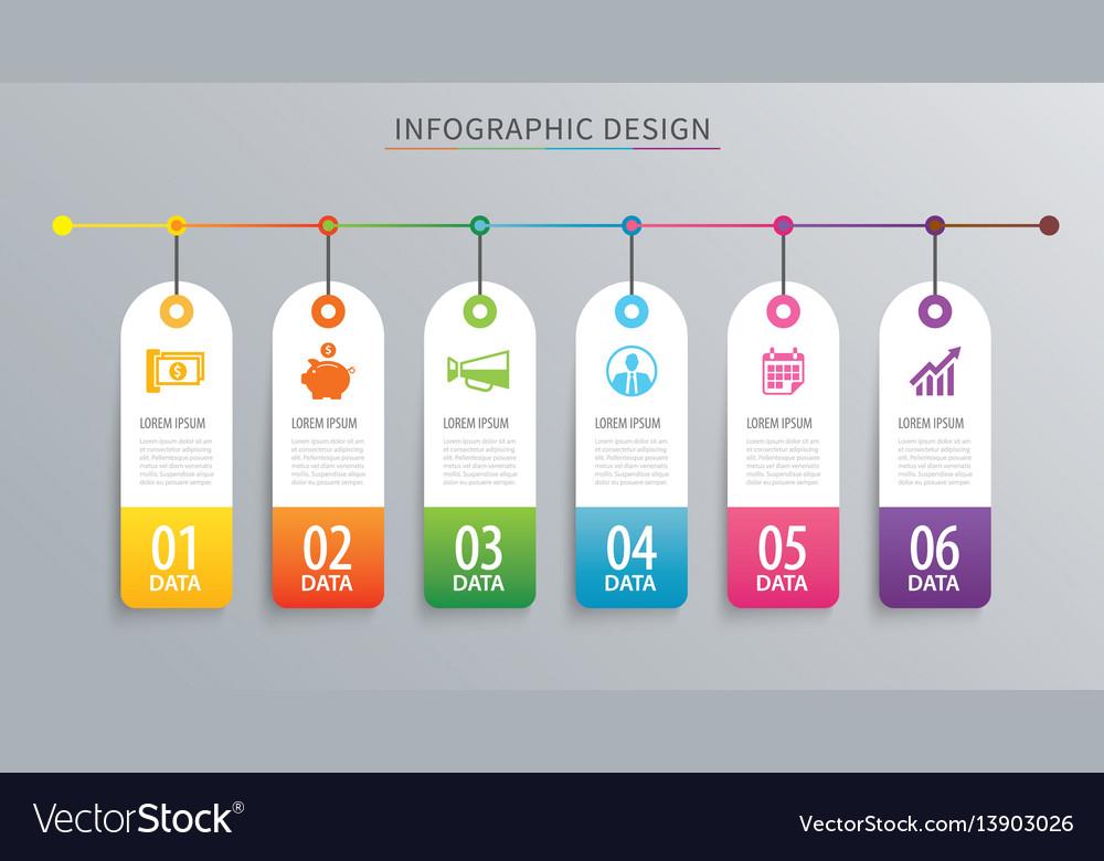 Infographics tag banner 6 option template