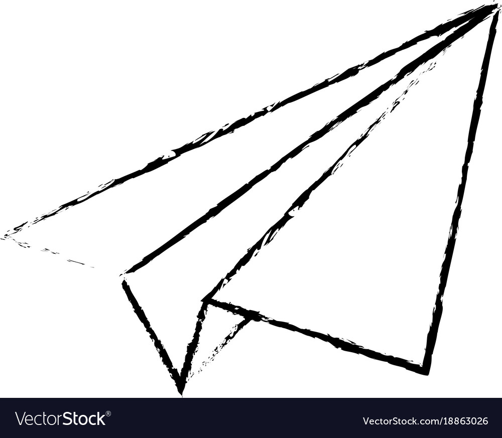 Isolated origami airplane