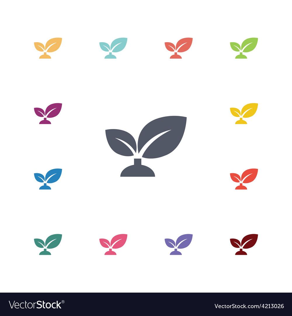 Plant flat icons set vector image
