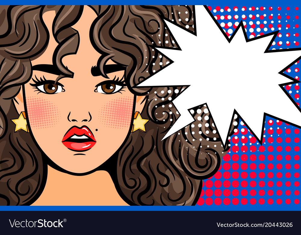 Shocked pop art girl
