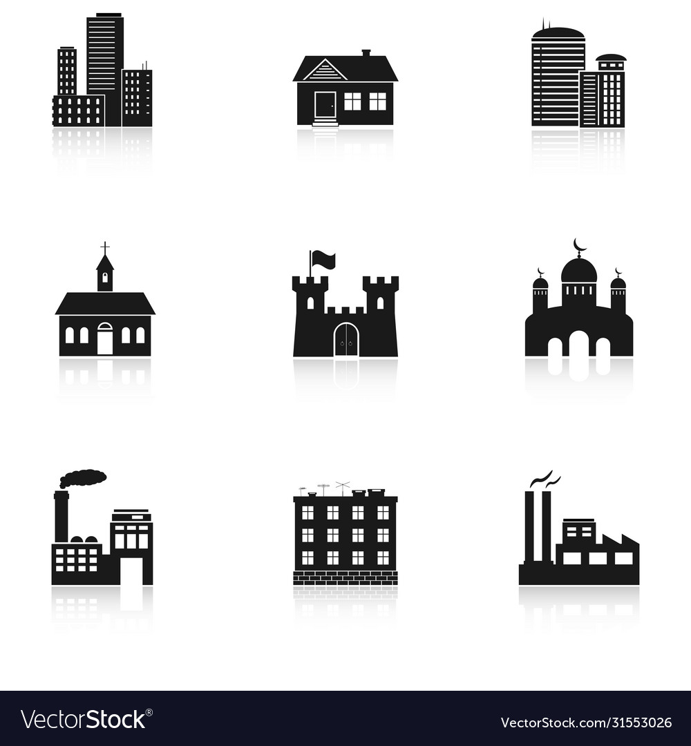 Various buildings icons