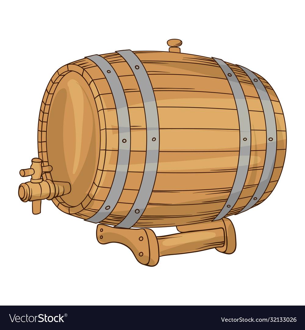 Wooden barrel for wine or beer