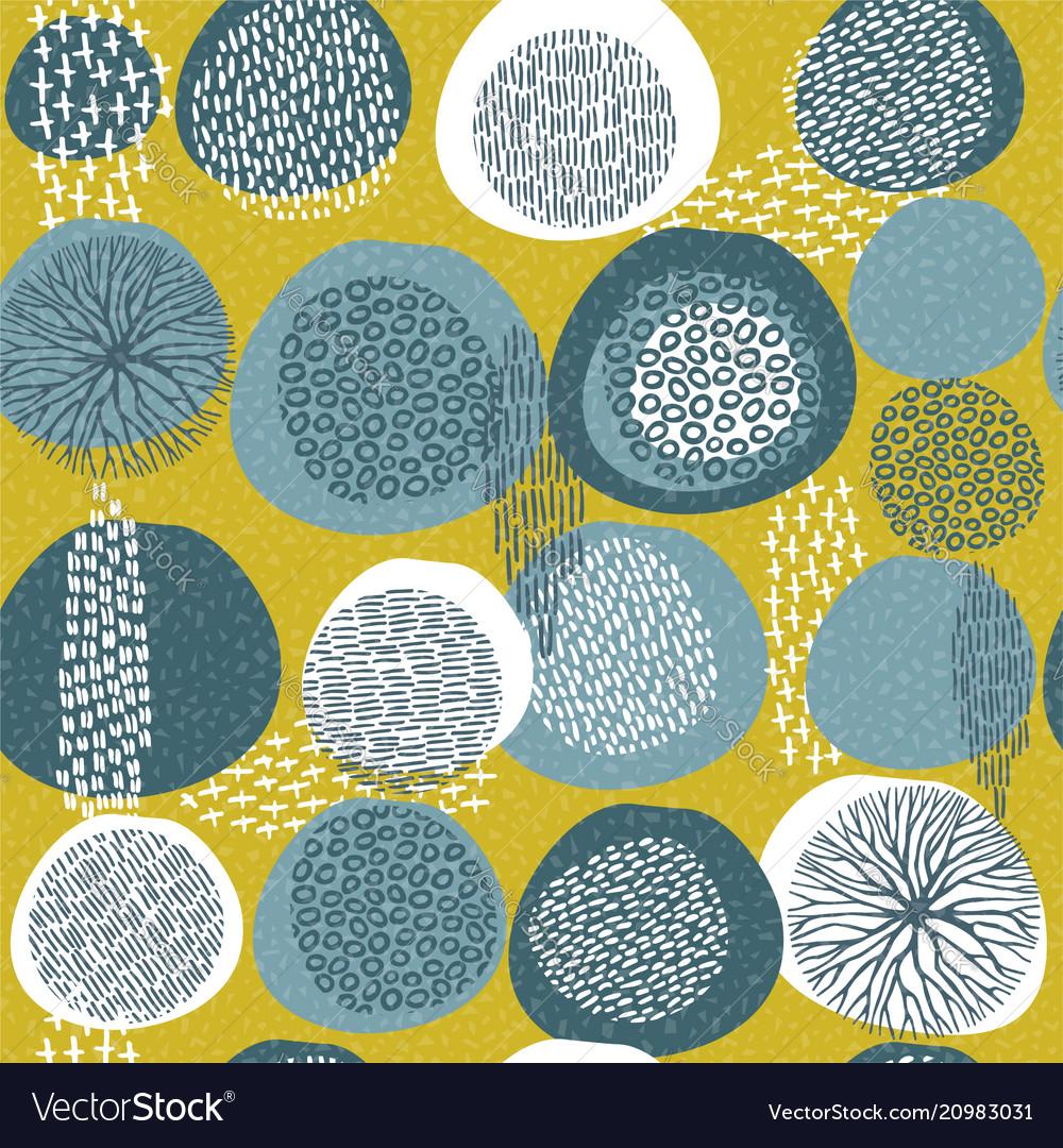 Abstract boho art style pattern background