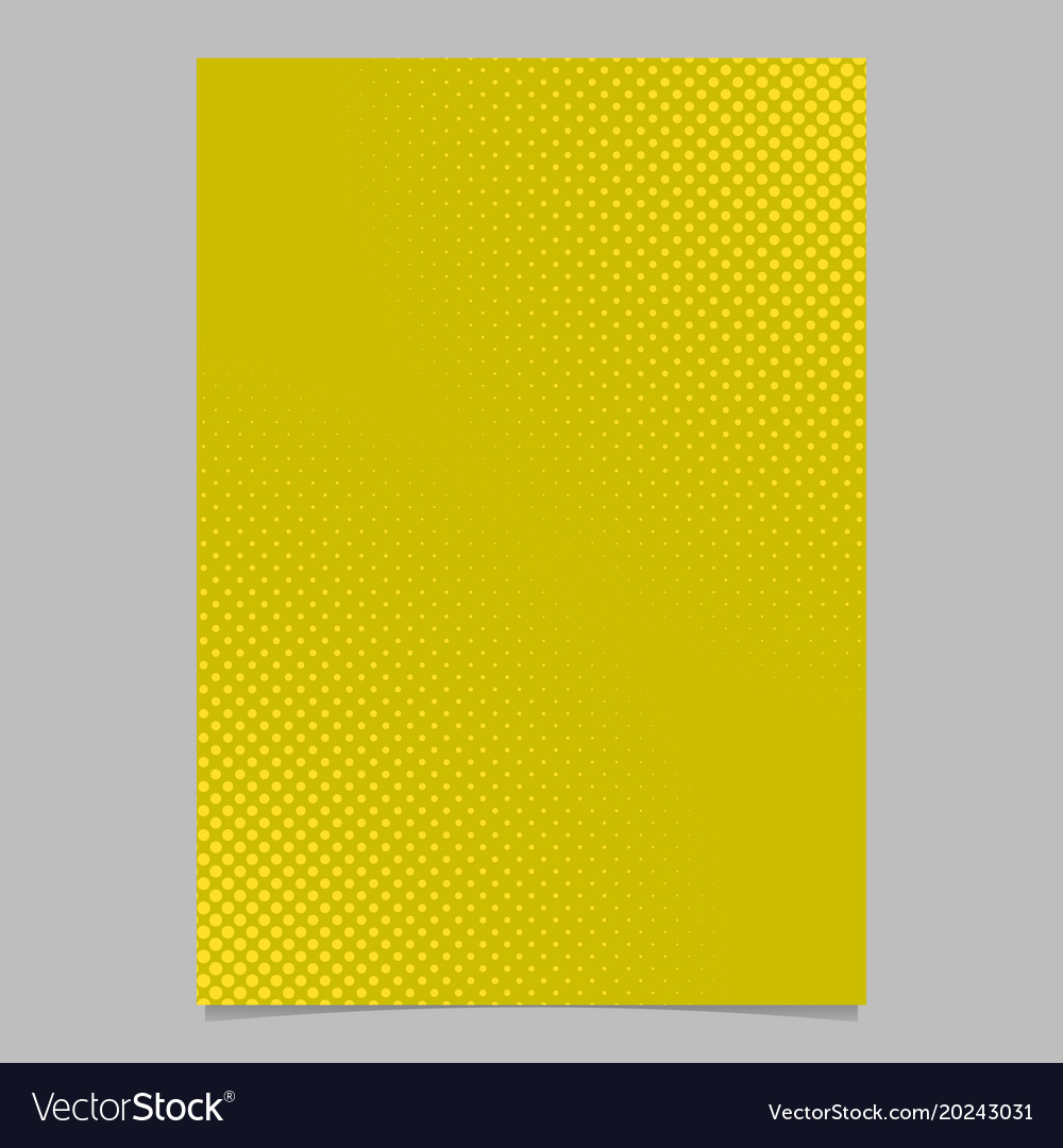 Abstract halftone dot pattern brochure cover