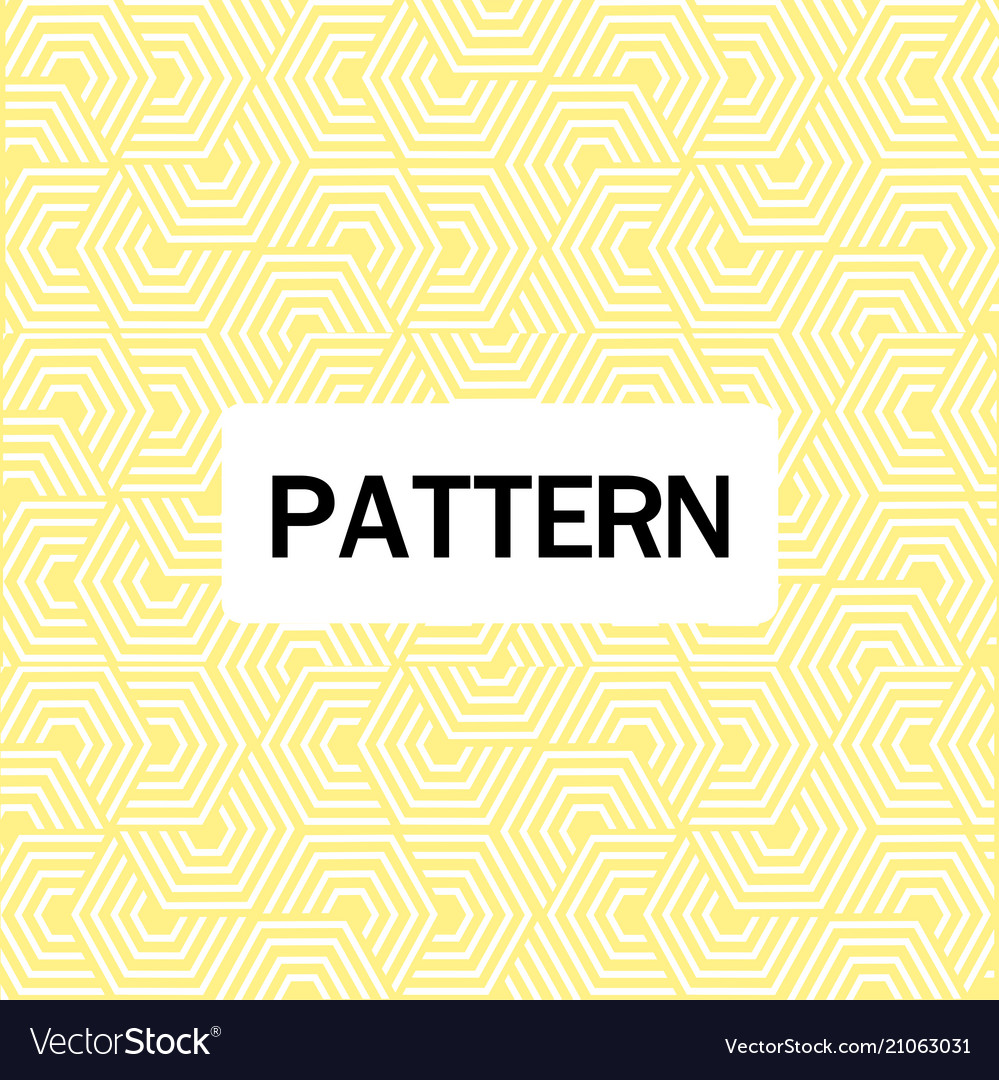 Abstract overlap hexagon pattern yellow background