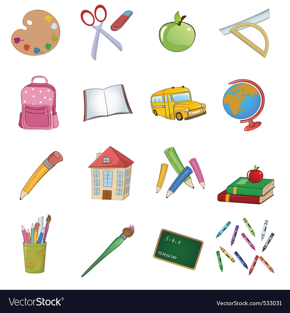 Back to school design elements vector image