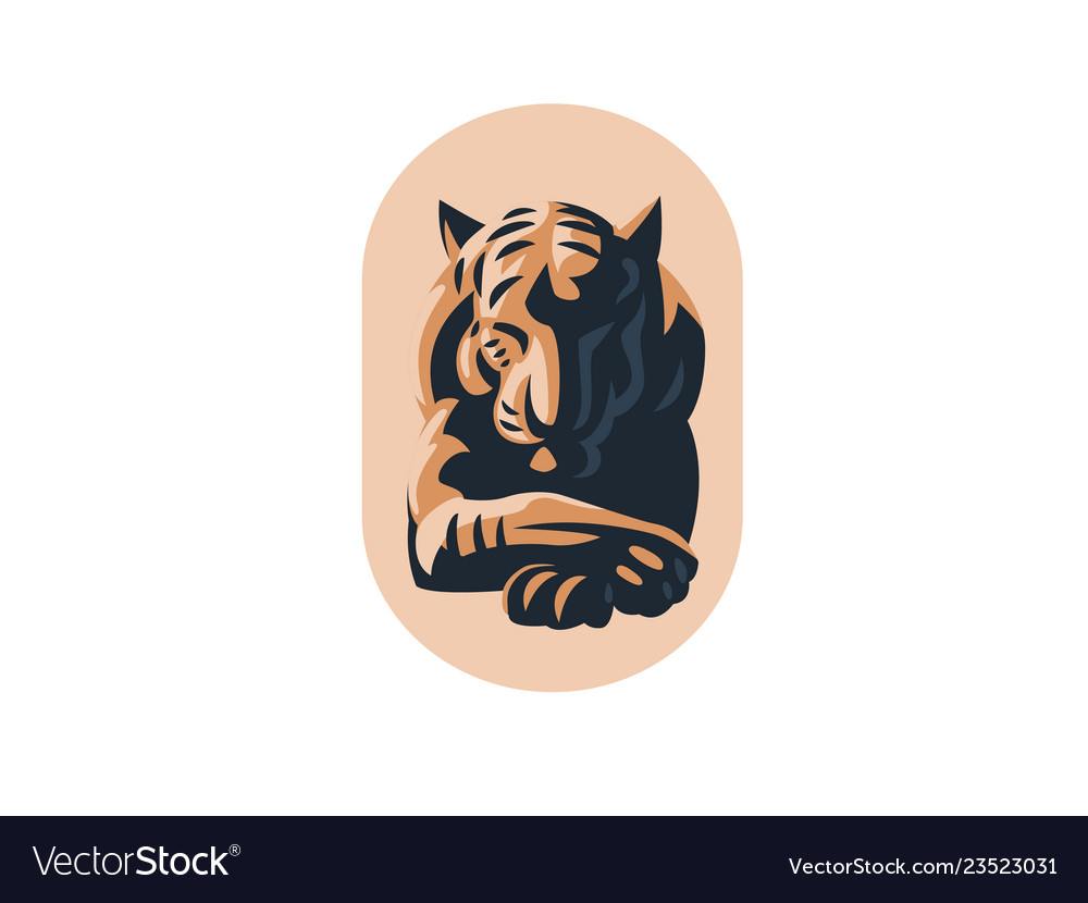 Big tiger with closed eyes