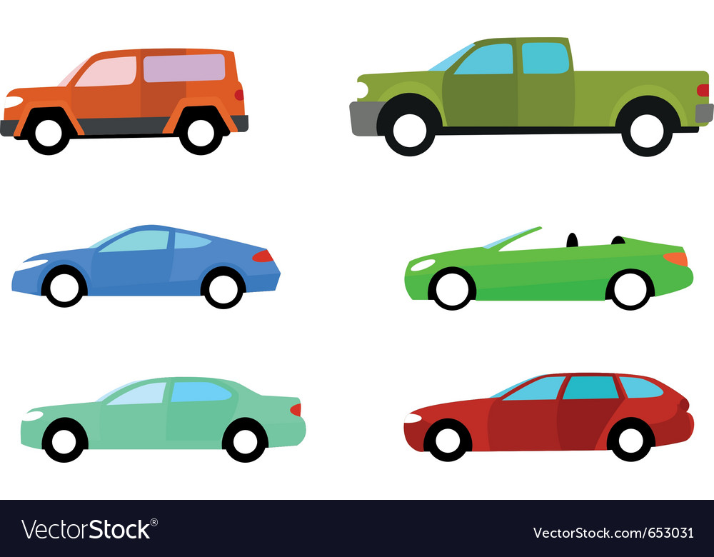 Color cars Royalty Free Vector Image - VectorStock