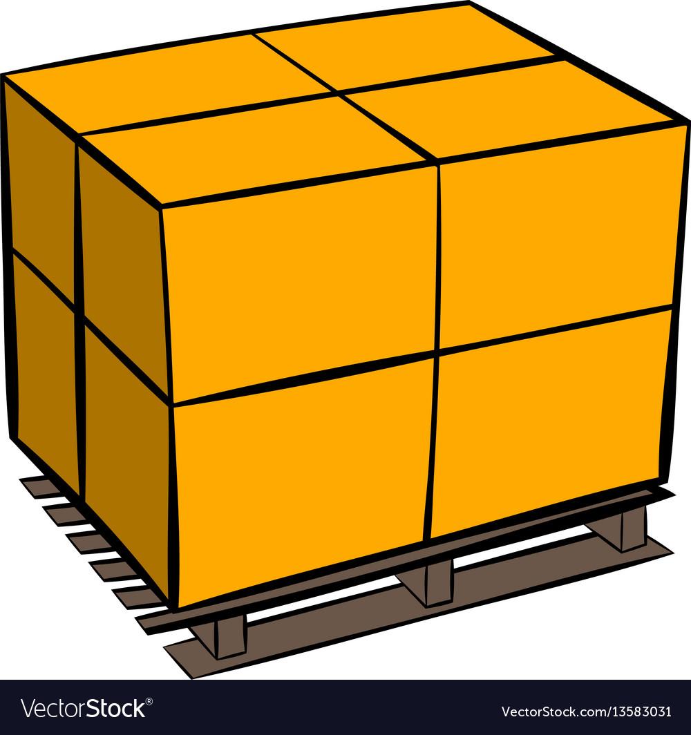 Pallet icon cartoon vector image