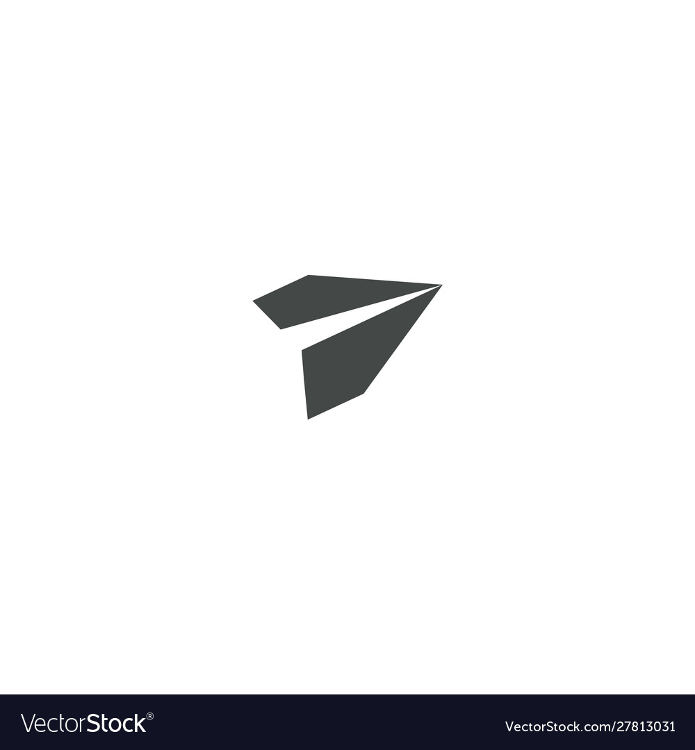 Paper plane icon send message on email isolated