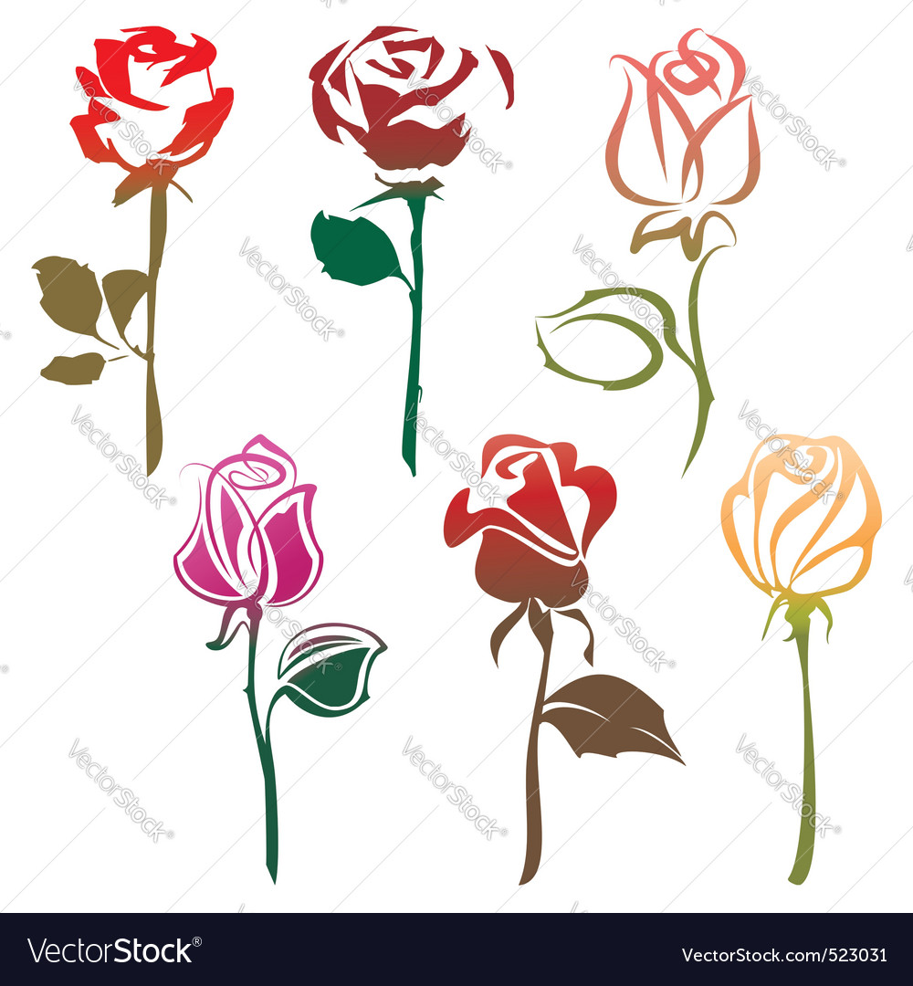 Roses sign vector image