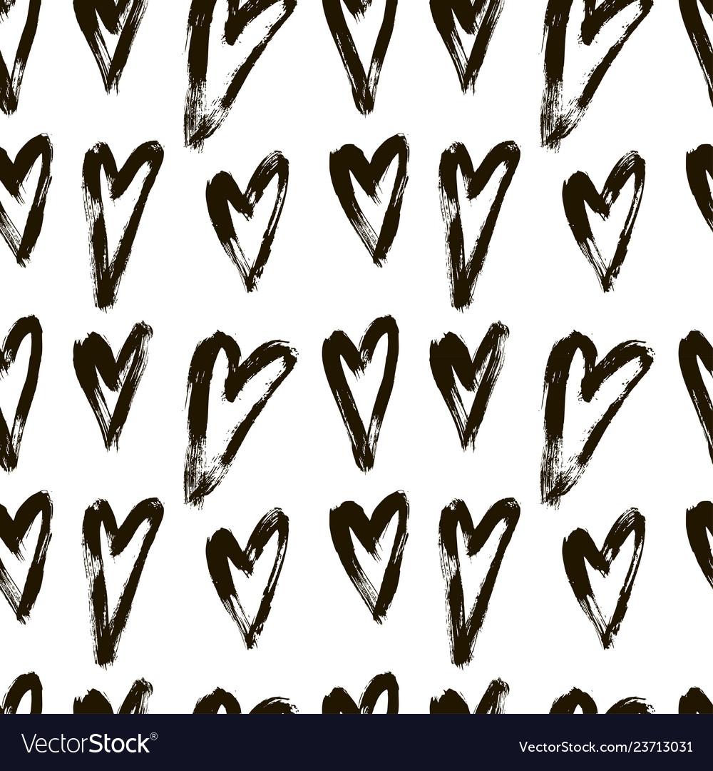 Seamless pattern heart