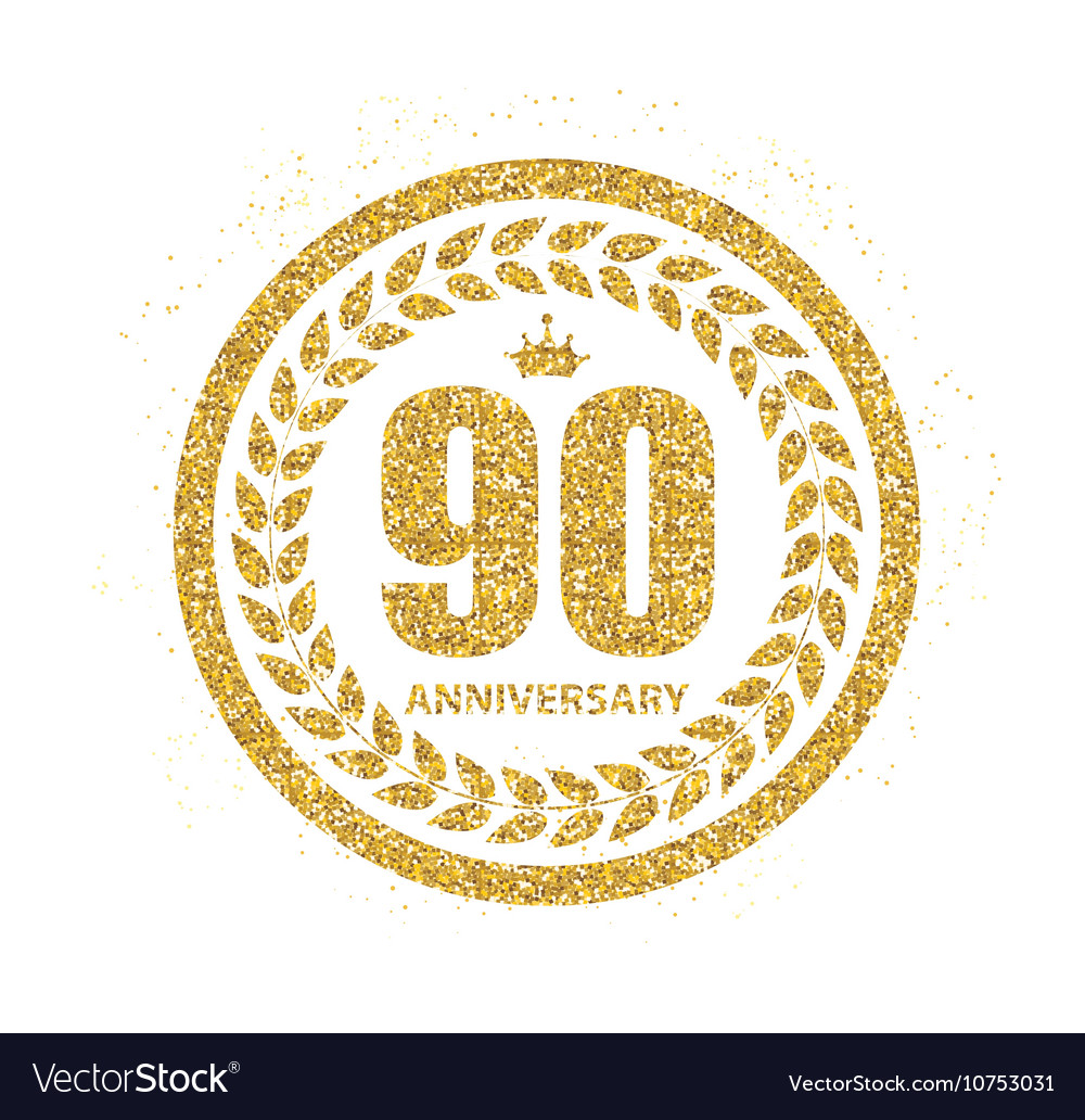 Template Logo 90 Years Anniversary