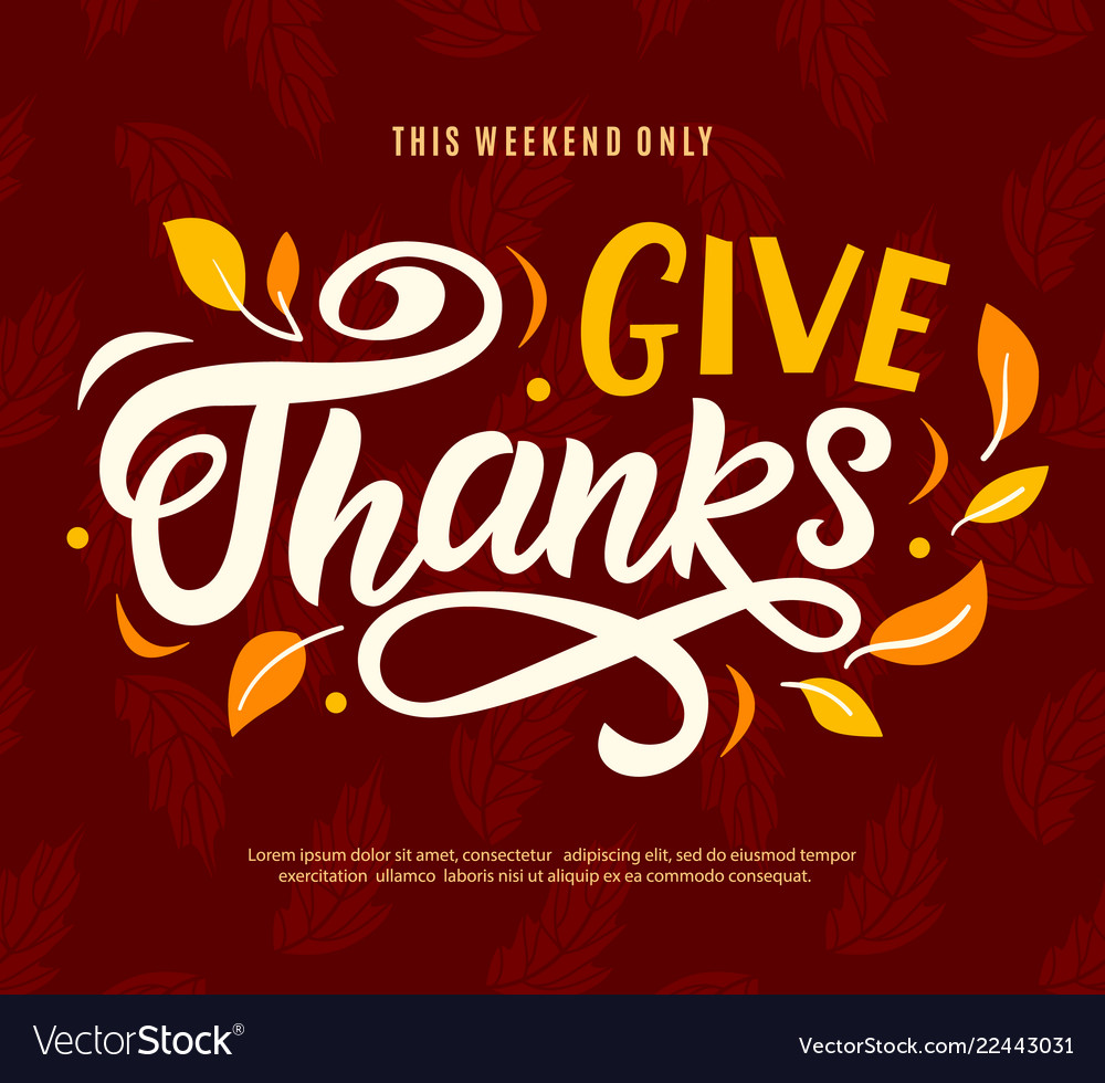Thanksgiving day sale banner template give thanks