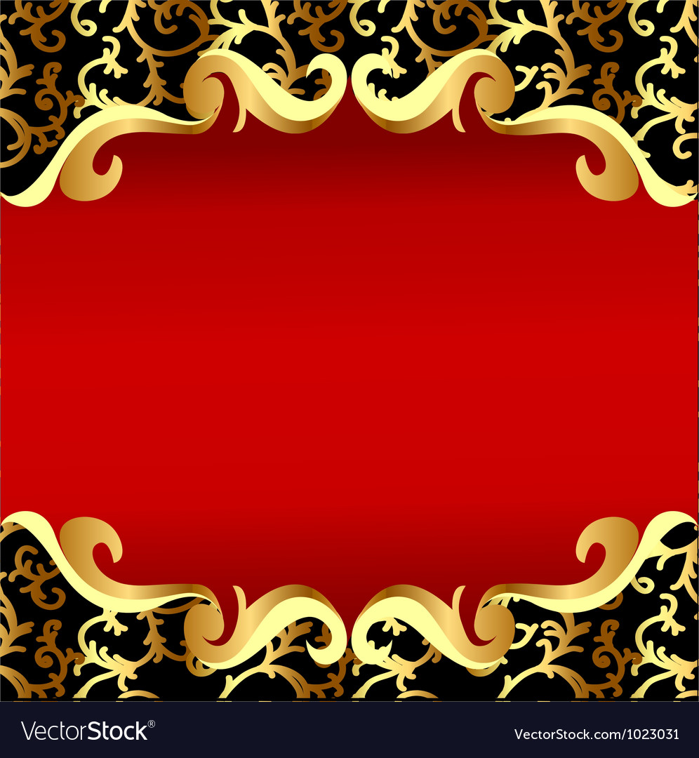 vintage golden frame royalty free vector image
