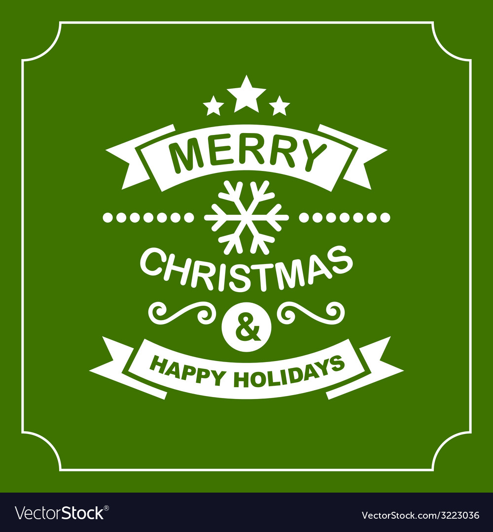 Christmas Retro Typographic Background