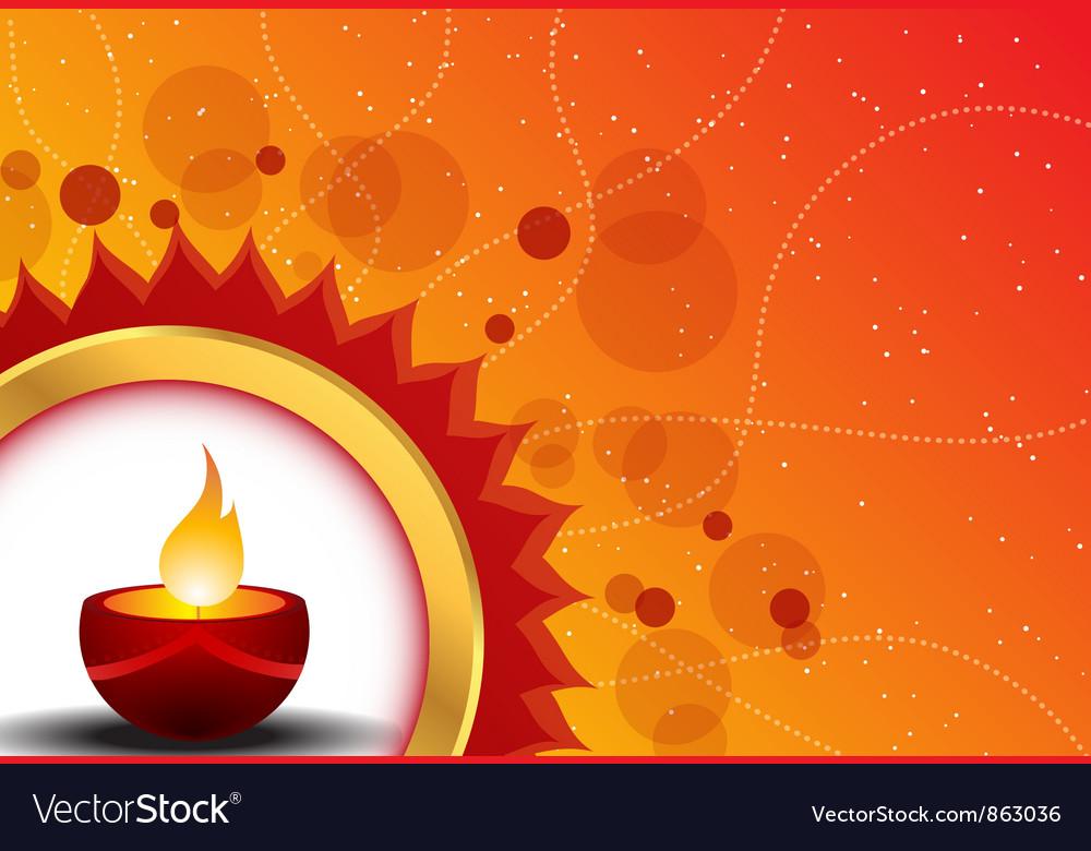 Diwali card vector image