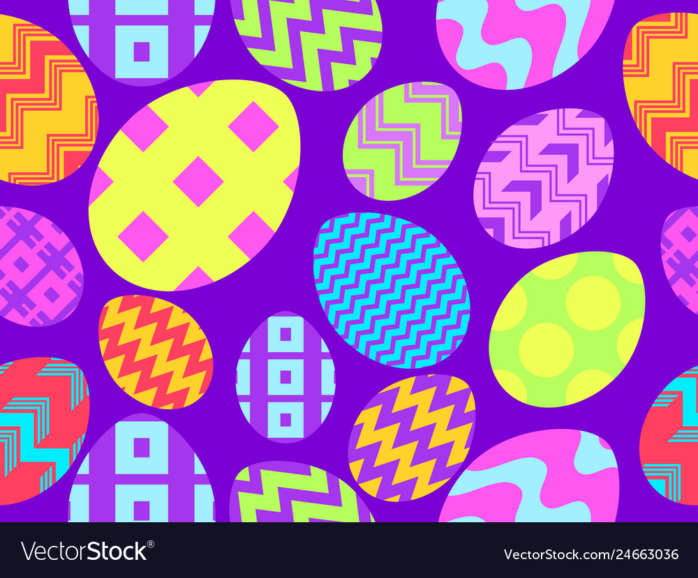 Easter eggs seamless pattern happy easter