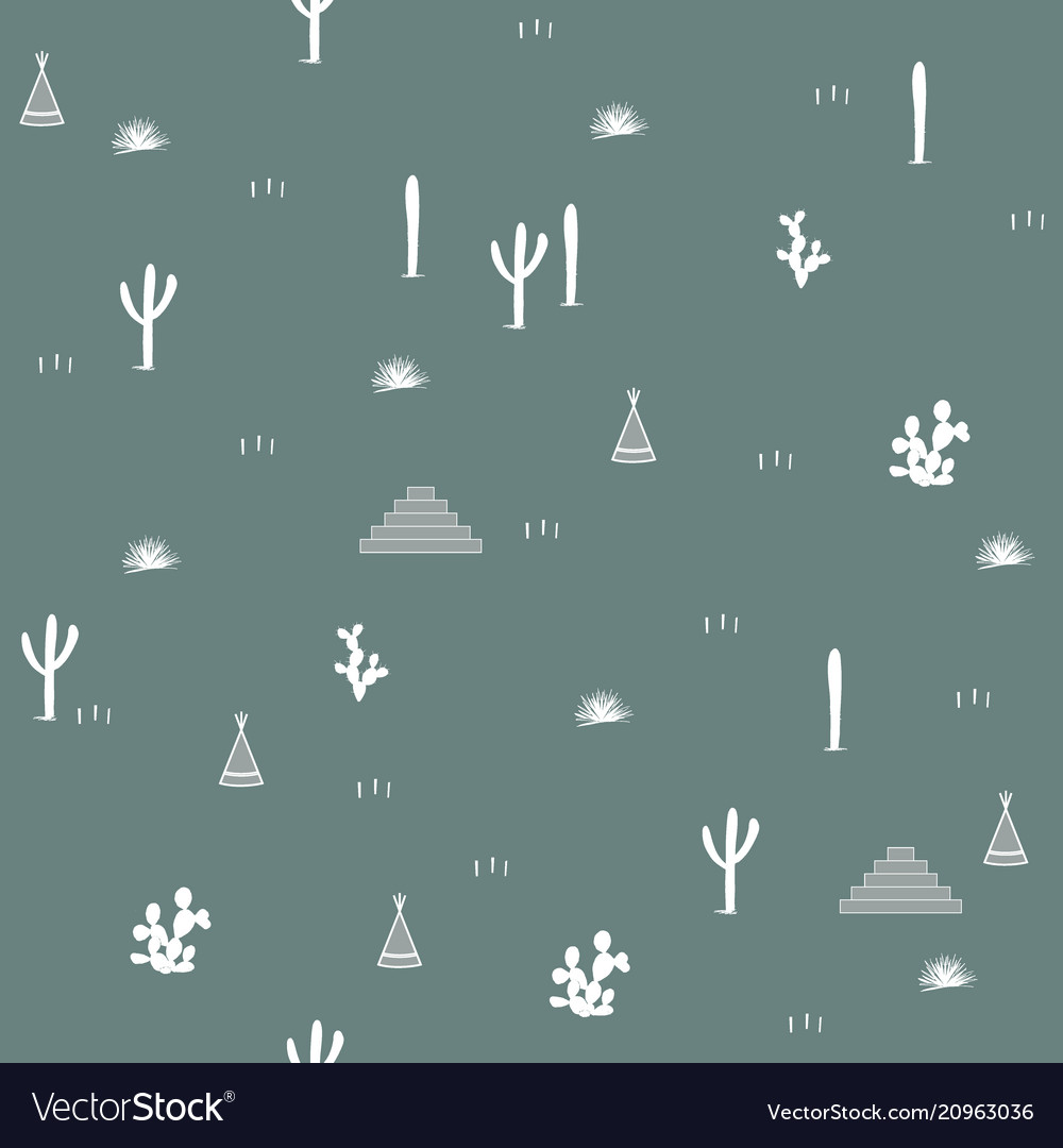 Seamless pattern with indian tents pyramids and