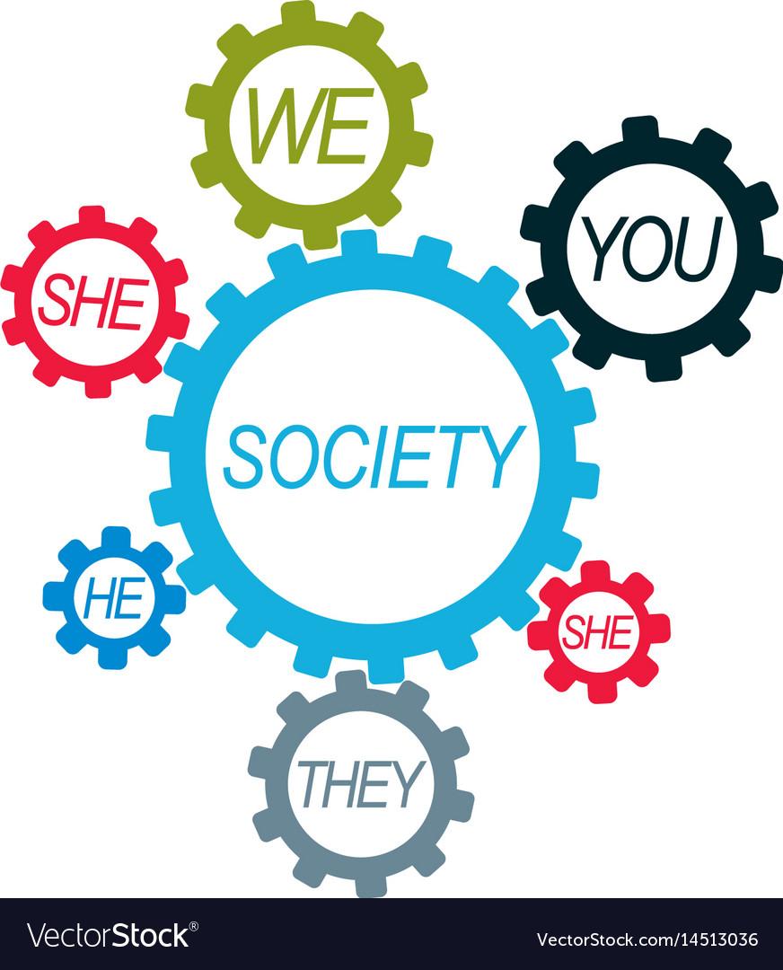 Social relations conceptual logo unique symbol