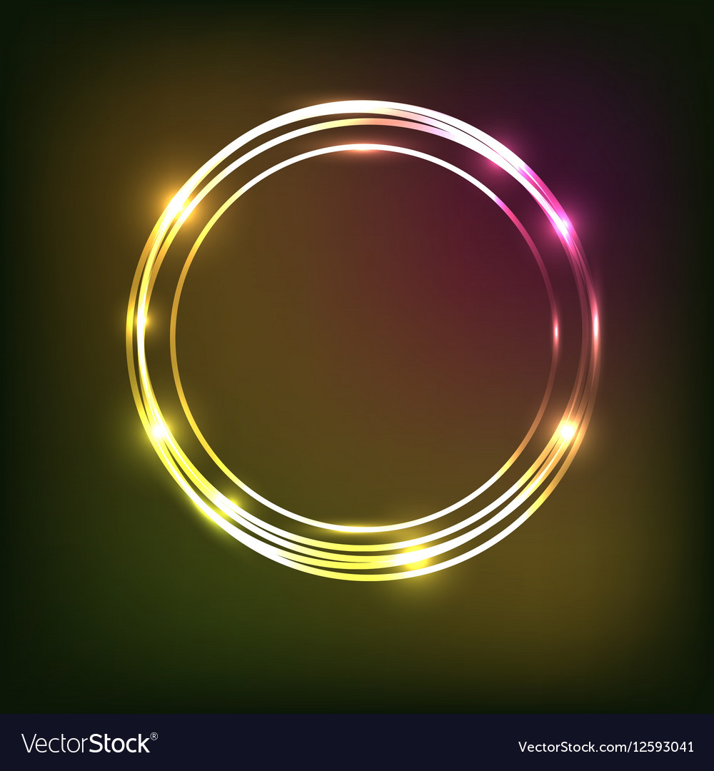 Abstract colorful neon background with circles