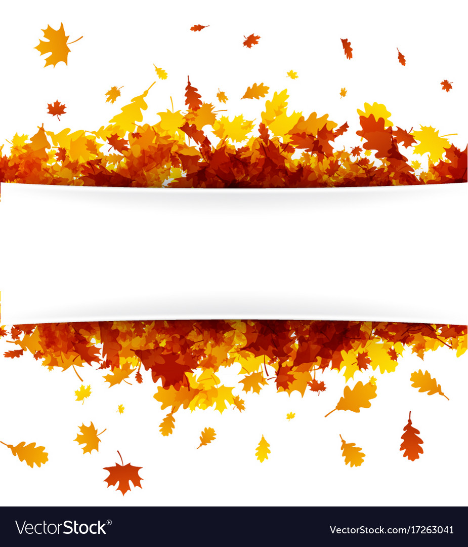 Autumn banner with golden leaves