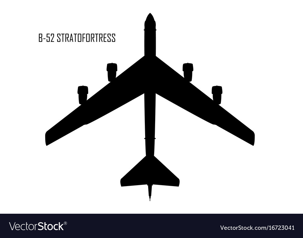 B 52 Stratofortress Silhouette Royalty Free Vector Image