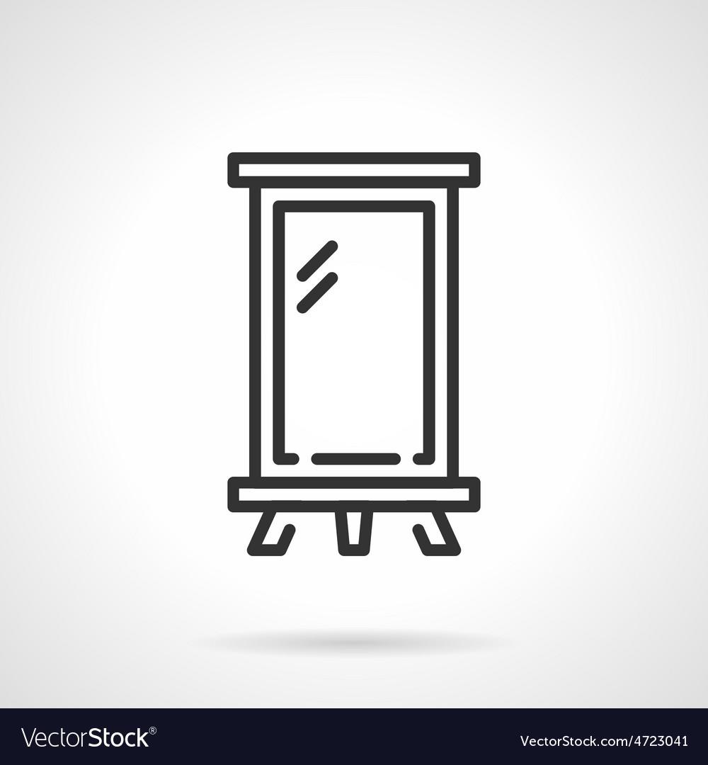 Billboard black line icon vector image