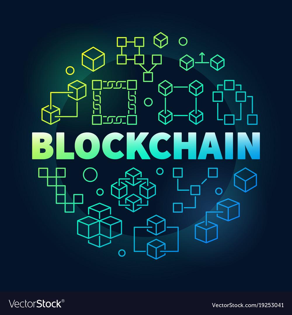 Blockchain colorful block