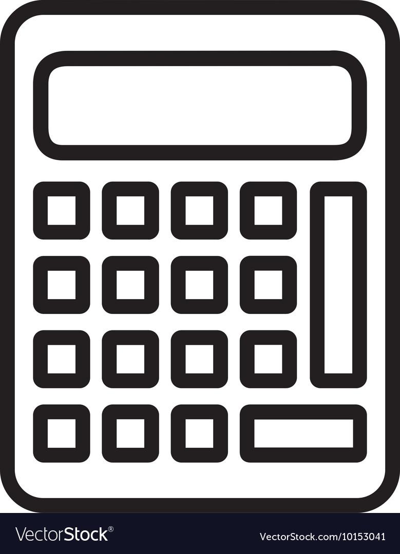 calculator math count school icon graphic vector image