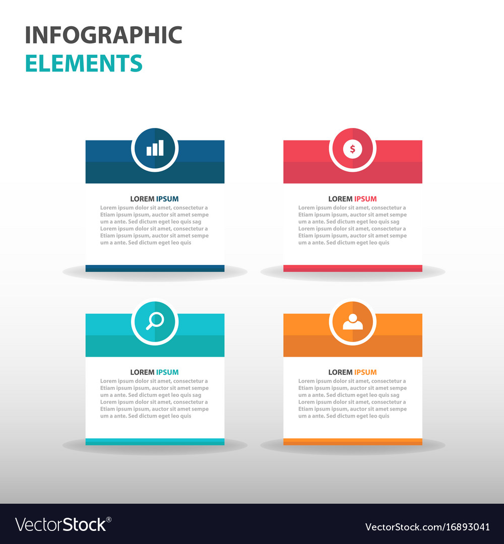 Colorful text box business infographics elements