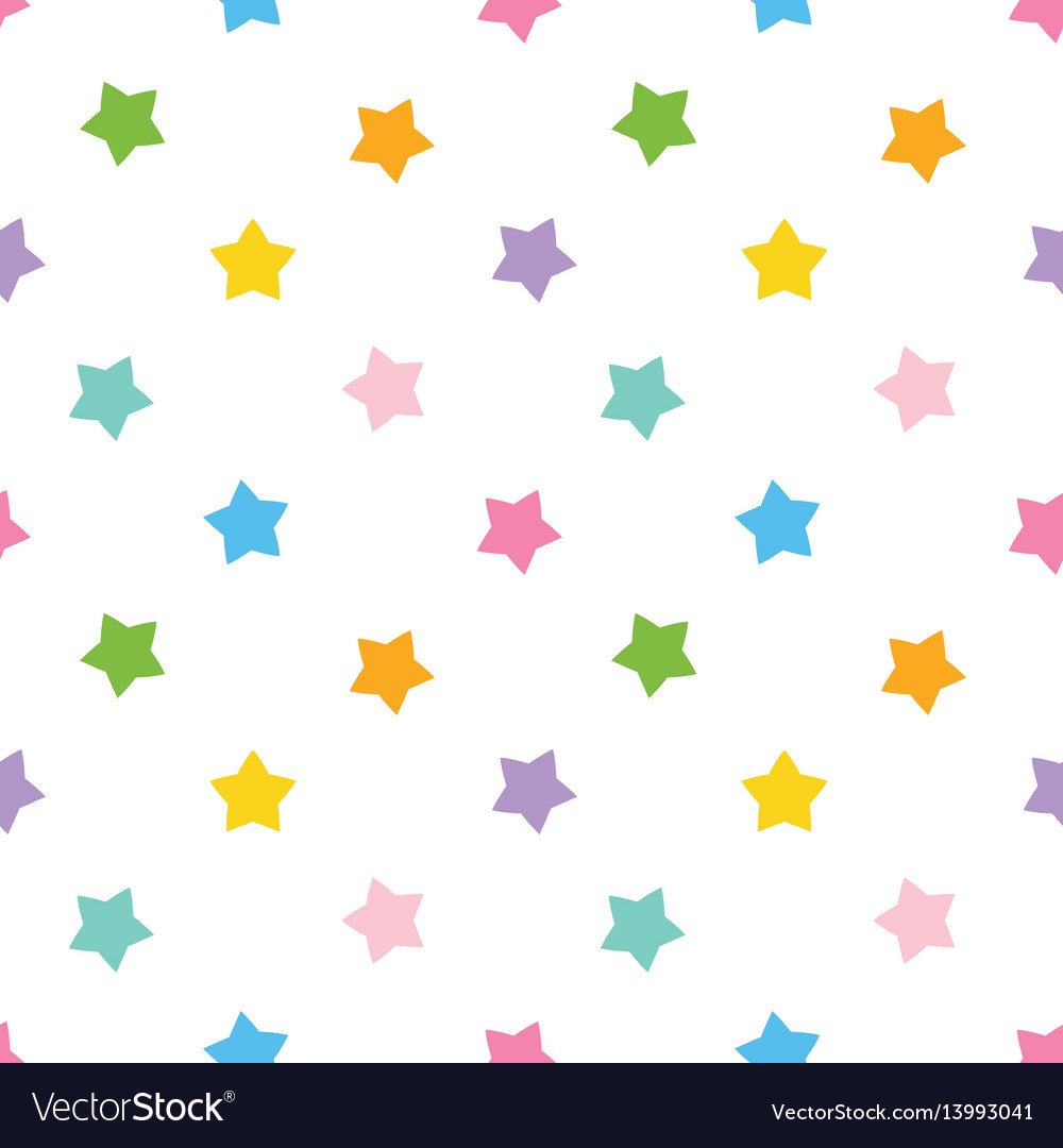 Cute colorful stars seamless pattern background