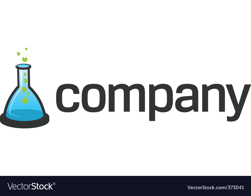 Flask logo for scientific tech vector