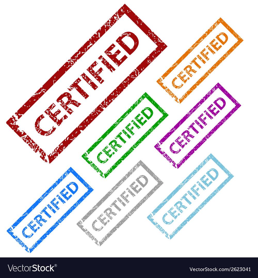 Grunge certified stamp set