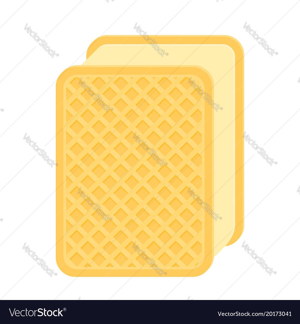 Ice-cream waffle sandwich isolated