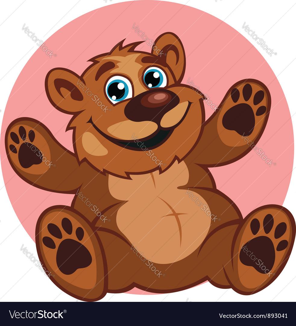 Smiling brown bear toy