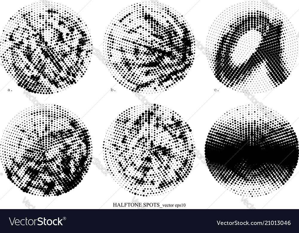 Halftone spots set