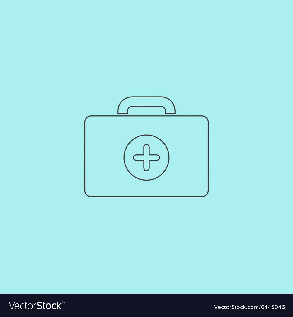 Medical box modern flat icon