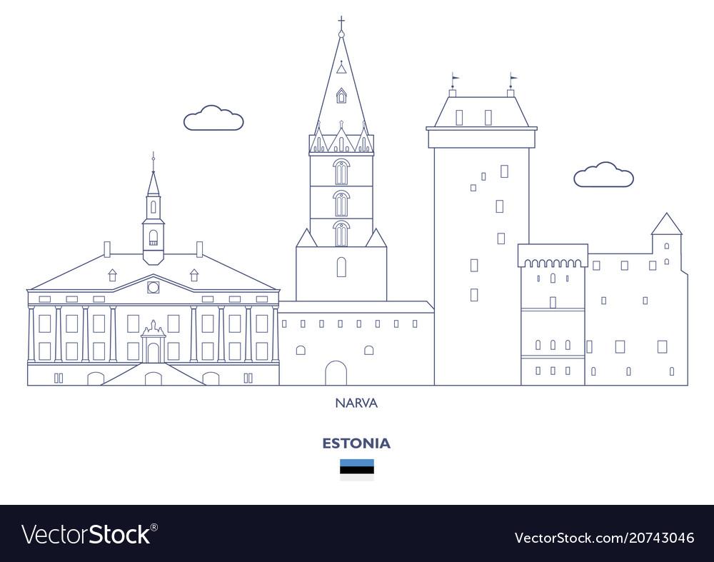Narva city skyline