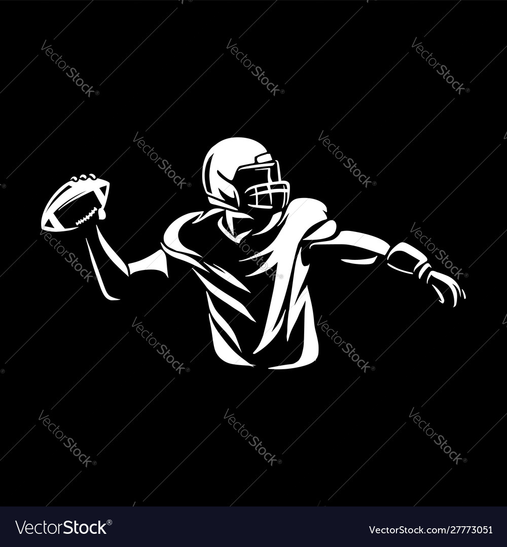 American football throwing ball