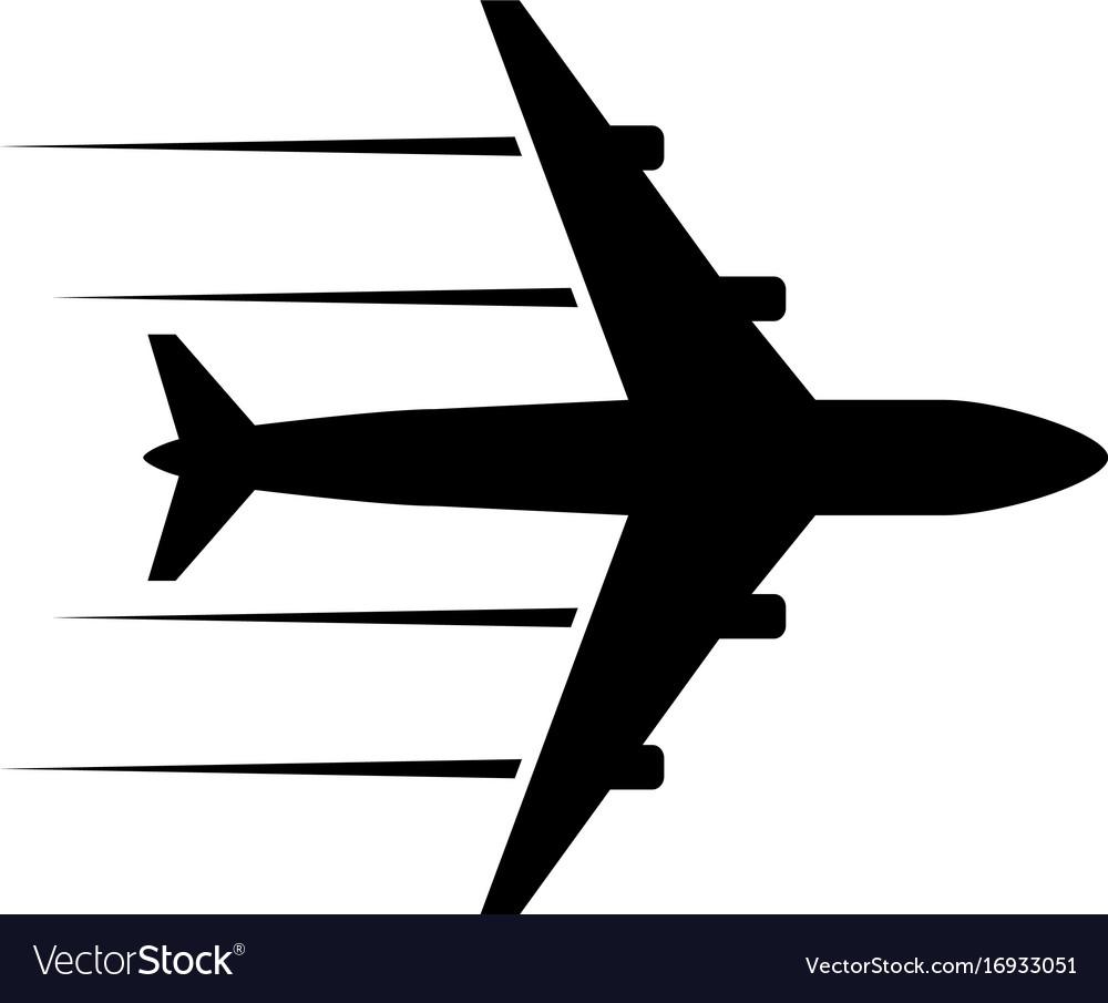 black icon plane royalty free vector image vectorstock rh vectorstock com vector plane calculator vector planet
